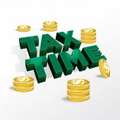 picture of tariff  - An illustration concept for income tax return or tax time - JPG