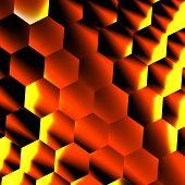 stock photo of hexagon pattern  - Hexagonal 3d effect - JPG