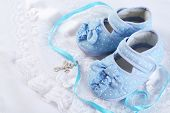 picture of christening  - Baby shoe and cross for Christening - JPG