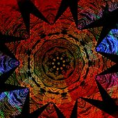 picture of tantra  - Colorful abstract star pattern - JPG