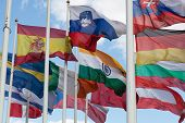 image of flags world  - Flags of the countries of the world wave on a wind - JPG