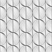 image of uncolored  - Design seamless uncolored circle lines pattern - JPG