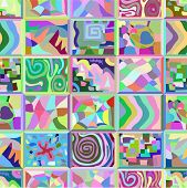 foto of peculiar  - Abstract seamless pattern consisting of many unusual stories - JPG