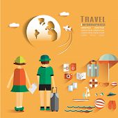 picture of passport template  - World Travel Business Design Infographic  - JPG