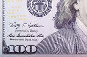 stock photo of one hundred dollar bill  - Banknote - JPG