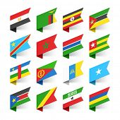 stock photo of flags world  - Flags of the World - JPG