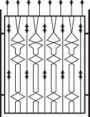 image of wrought iron  - Wrought Iron Gate - JPG