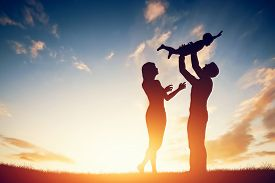 foto of father child  - Happy family together - JPG