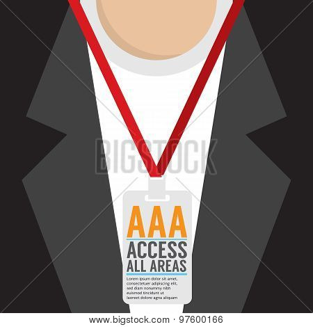 Flat Design Access All Area Staff Card.