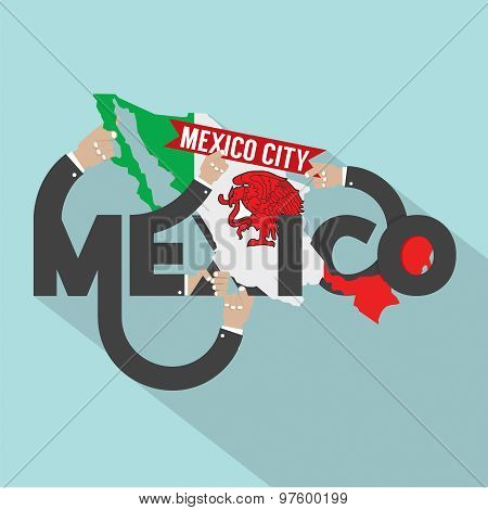Mexico Typography Design.