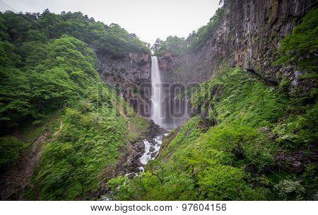 Silk water in bottom of Kegon Falls, Nikko