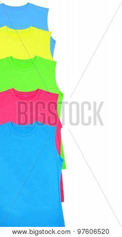 Color T-shirts Isolated On White