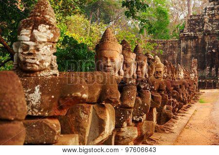 Faces In Bayon Temple, Angkor Wat, Cambodia