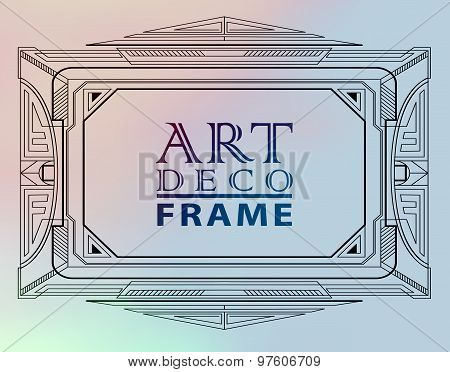 Art deco geometric