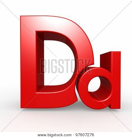 Upper And Lower Case D Together
