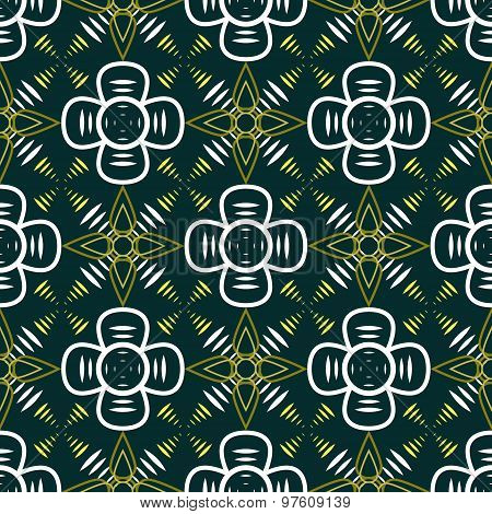 Abstract Seamless Geometric Contrasty Pattern