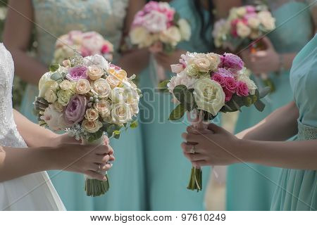 Few Bouquets Of Roses