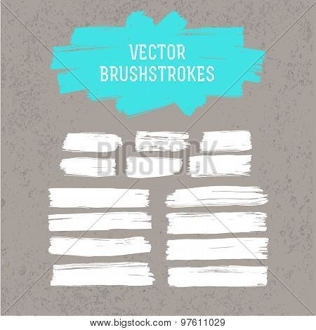 Paint Brush Strokes Set