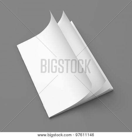White Cover Empty Magazine Blank