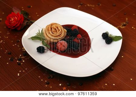 Pancake With Wild Berries