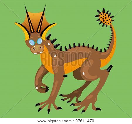 Wingless dragon four-eyes.
