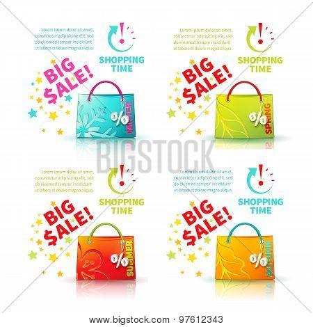 Bright green shopping bag