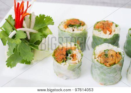 Vietnamese Vegetarian Spring Rolls