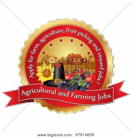 Agricultural and Farming Job Vacancies - sticker for print.
