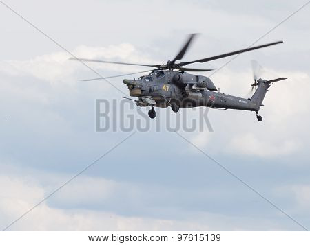 Military Mi-28 In Flight