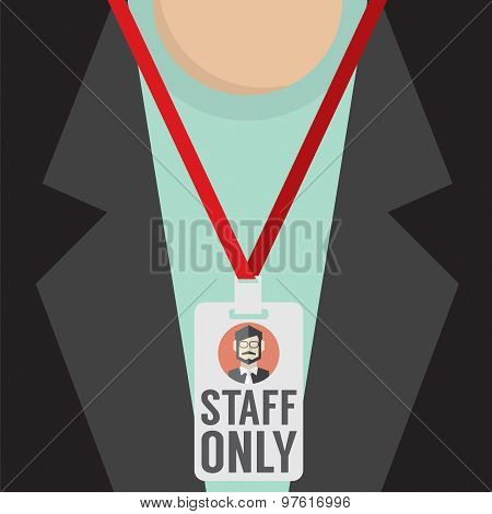 Staff Only Lanyard.