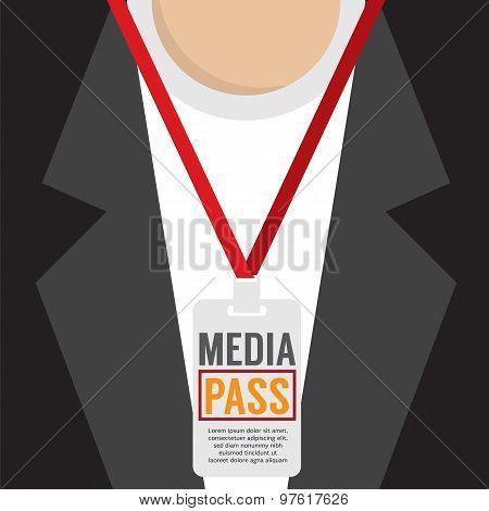 Media Pass Lanyard.