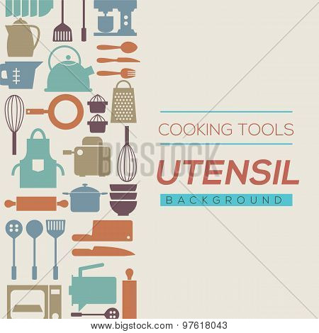 Cooking Tools And Utensil Background.
