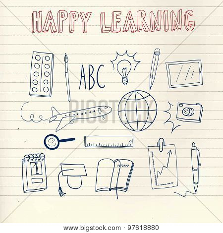 Happy Learning Doodle Set