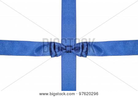 Intersection Blue Ribbon And Satin Band With Bow