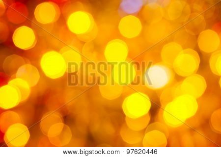 Brown, Yellow And Red Shimmering Christmas Lights