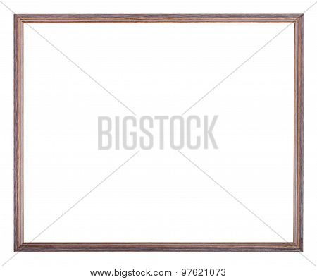 Narrow Painted Wooden Picture Frame