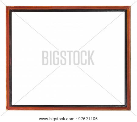 Red And Black Painted Narrow Wooden Picture Frame