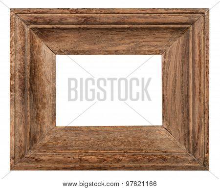Wide Oak Wood Picture Frame