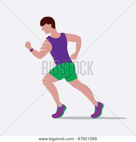 Speedy Male Runner.