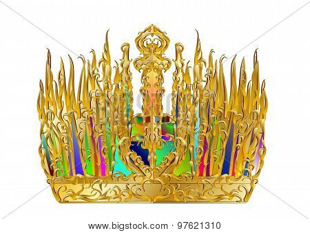 Golden Abstract Crown