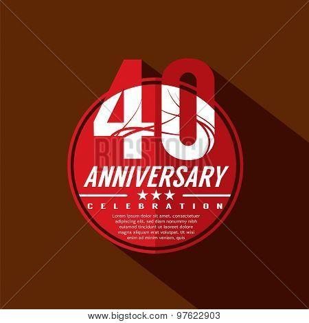 40 Years Anniversary Celebration Design.