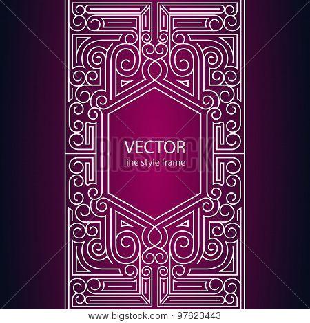 Vector geometric linear style frame