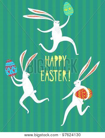 Easter Rabbits Illustration