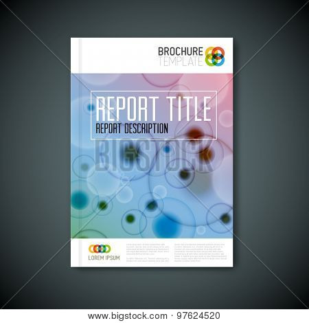 Modern Vector abstract microscopy biological brochure, report or flyer design template
