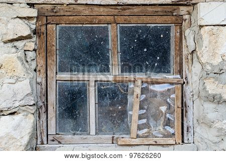 Old Window Of An Abandoned House