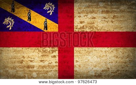 Flags Herm With Dirty Paper Texture. Vector