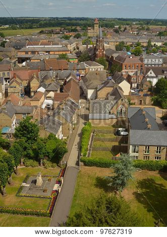 View of Church walk towers and roofs