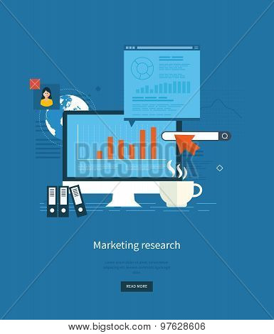 Flat design illustration concepts for business analytics and planning, consulting, team work, projec