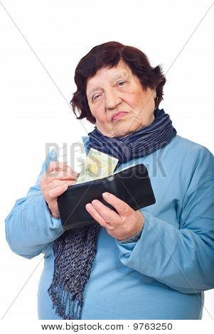 Sad  Elderly Give Last Penny On Medicines
