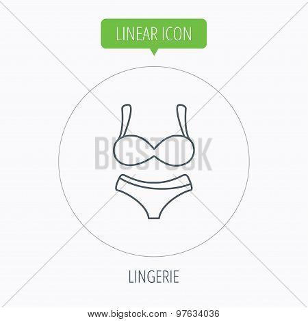 Lingerie icon. Women underwear sign.